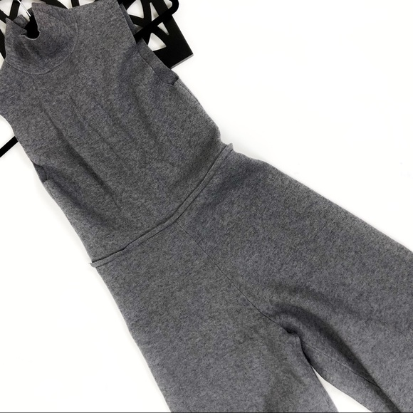 cdcdcbcd7f5d Zara knit turtle neck culottes grey jumpsuit. M 5a419faaf9e501c67003e4b7
